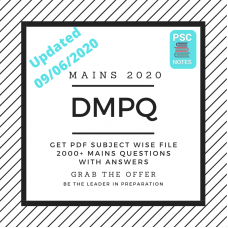DMPQ PDF Compilation June 2020- Mains Mock questions and answers